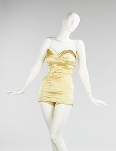 Bathing suit, 1949-51. Brooklyn Museum Costume Collection at The Metropolitan Museum of Art.