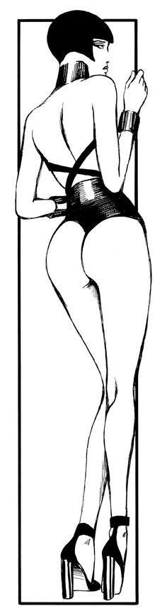 Valentina Glamour by Guido Crepax. #artwork #blackandwhite http://www.pinterest.com/TheHitman14/black-and-white/
