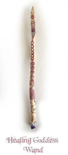 Healing Goddess Wand pagan wiccan wicca reiki by MoonsCraftsUK