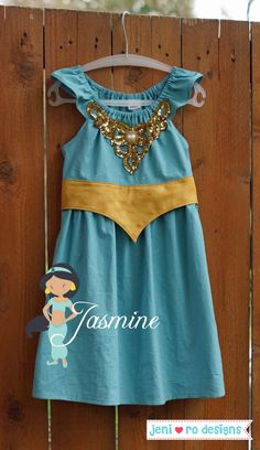 Jasmine princess play dress - jenirodesigns.com