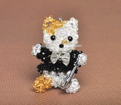 3D Beaded Kitty (multiple bead sizes)