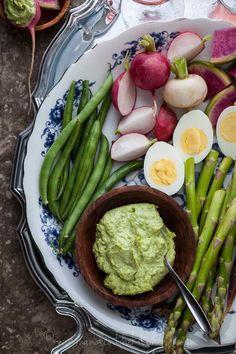 Fresh Herb Aioli with Vegetables via gourmandeinthekitchen.com