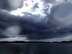 Heavy rain coming in Finnish Archipelago