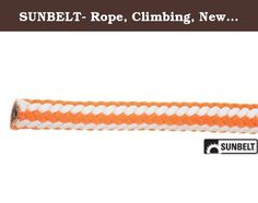 "SUNBELT- Rope, Climbing, New England Ropes, Hi-Vee, 1/2"" x 120'. Part No: B1N. Rope, Climbing, New England Ropes, Hi-Vee, 1/2"" x 120'. PART NO: B1NEHV50120PB. New England Hi-Vee climbing rope is one of the best climbing lines available. In 1/2 (12 mm) diameter, New England climbing rope has a breaking strength of 7,000 lb. Each strand is comprised of tightly plied fibers featuring fibrillated polyolefin. This 16 strand, poly-blend rigging rope that is softer and more flexible which..."