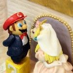 A Super Mario Wedding Cake by The Cake Mom & Co.