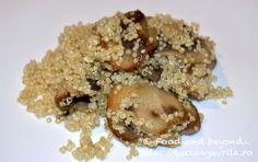 Quinoa cu ciuperci Meatless Recipes, Quinoa, Oatmeal, Gluten, Breakfast, Food, The Oatmeal, Morning Coffee, Rolled Oats