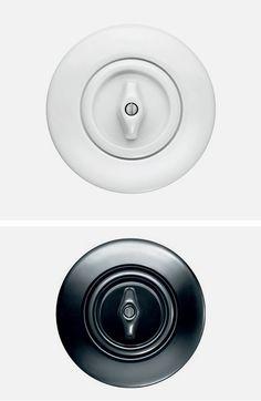 1930's Bauhaus Berker Serie Porzellan light switch