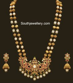 Gold Pearl Haram set