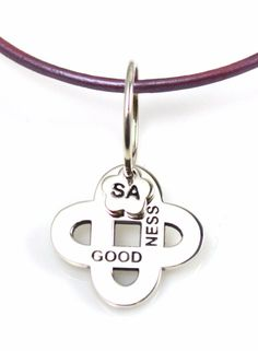 Goodness Charm Leather Necklace