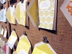 Clever way to display photos, cards, artwork & more at a craft show in your booth.