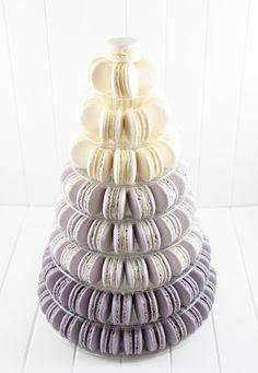 Silver Ombre Macaron Tower Le Petit Macaron