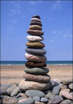Ephemeral art - me messing about with stones on a beach.