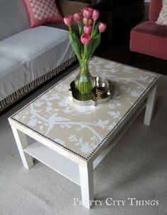 Restore an IKEA coffee table -- this is just what I was looking for! We have this table & the top is pretty scratched up -- this is the perfect way to make it over!