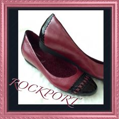 ROCKPORT NEW beauties✨✨⬇️⬇️Firm Beautiful frosty burgundy/pink color, NEW slip ons.... Rockport Shoes
