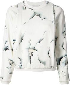 3.1 PHILLIP LIM White Cracked Effect Sweatshirt