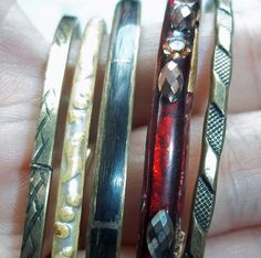 Instant Stack 5 Vintage Bangles by vintagedazzle on Etsy