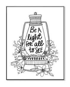 Be A Light Coloring Wall Art Large