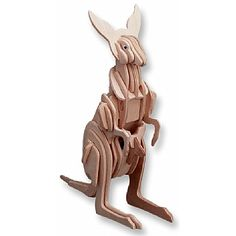 3-D Wooden Puzzle - Small Kangaroo -Affordable Gift for your Little One! Item #DCHI-WPZ-M032