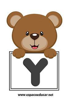 Cartazes Alfabeto Urso Com Plaquinha Gratis Para Voce Imprimir