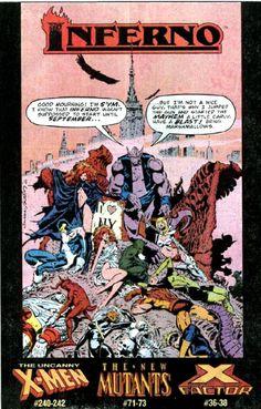 X-Men Inferno Comic Book Ad