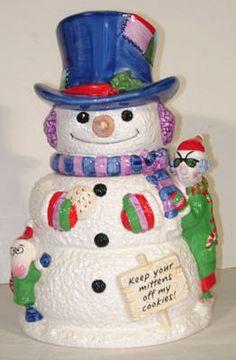 Maxine and Snowman CookieJar