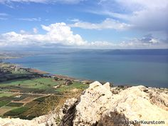 Mt Arben where Jesus went to pray in Mark 6 - could see the sea of Galilee where the disciples were in trouble in a boat. He walked on water and calmed the storm