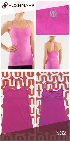 Lululemon Diversity tank Pow pink (?) stock photo best depiction of color. Great preloved condition. Scrappy with feminine scoop neck. Super soft Vitasea cotton a SEACELL & Spandex blend. Long length. Light support. Body hugging. Perfect layering tank. Does not include cup inserts. No trades. No PayPal. Price firm unless bundled. lululemon athletica Tops Tank Tops