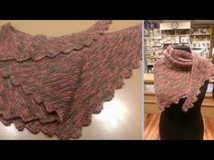 Baktus ai ferri - Tutorial sciarpa a coda di drago | How to knit a dragon tail scarf - YouTube