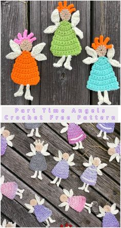 Part Time Angels  These cozy small creatures are sly and harmless. They look as the Angels so  the are perfect as a donate motif in many places.   #crochet  #freepattern