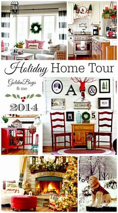Lots of decorating ideas in this holiday home tour!  A very cute Christmas home!