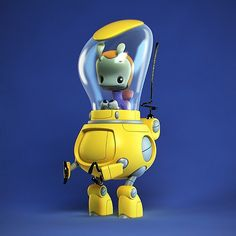 And here's the little stomper in sweet color. Dacosta is an amazing designer and he loves robots.