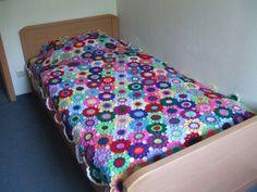 Room No# 20, afgahn, crochet blanket, häkeln, bedspread, Tagesdecke