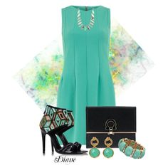 Black and Aqua by diane-shelton on Polyvore