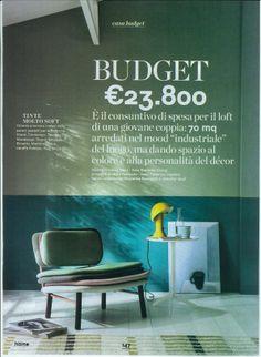 "Focus on Elmetto lamp  credits ""Home"" magazine"