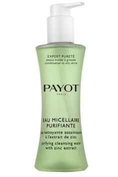 """Stimulating & revitalizing, """"Eau Micellaire Purifiante"""" is a refreshing way to finish cleansing & prepares your skin perfectly to receive its Payot treatment products. A deeply purifying cleansing water which gently removes make-up & cleanses skin. Also, the daily skin-treating water purifies the epidermis keeping breakouts & imperfections at bay & also eliminates sebum excess. £24"""