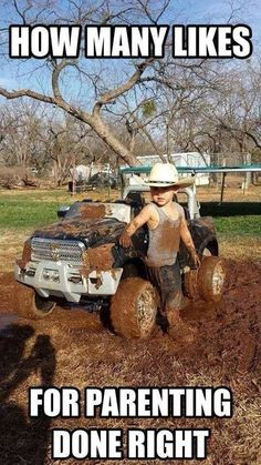 20 Jacked-Up Truck Memes That Will Make You Want to Go Muddin'.I could see people doing this. Country Girl Life, Country Girl Quotes, Country Babies, Country Men, Country Girls, Country Style, Truck Memes, Car Memes, Truck Humor