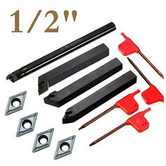 Wood Turning tool Finisher Carbide Tipped Wood Lathe Full Size Bar With 12mm Round Carbide Insert and a Screw and star key wrench,for wood hobbyist or DIY or carpenter,(Handle not Include) /(Handle not Include/) Pen Kit Mall