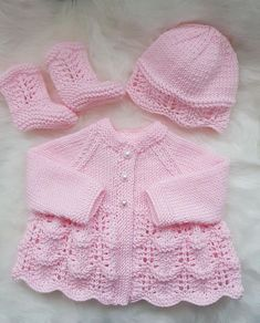 Isabella Baby Cardigan, Hat & Booties knitting pattern Knitting pattern by Designs by Tracy D. Isabella Baby Cardigan, Hat & Booties knitting pattern Knitting pattern by Designs by Tracy D, Diy Abschnitt, Baby Cardigan Knitting Pattern Free, Baby Sweater Patterns, Knitted Baby Cardigan, Knit Baby Sweaters, Knitted Baby Clothes, Cardigan Pattern, Knit Patterns, Free Knitting, Baby Knits