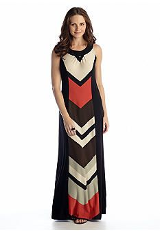 New Directions® Striped Halter Maxi Dress