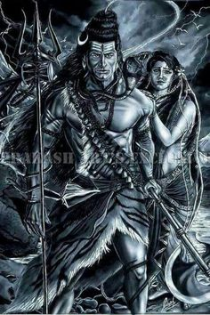 Maha dev (Shiva) with aadi shakti (Sati/Parvati) Shiva Shakti, Rudra Shiva, Shiva Parvati Images, Mahakal Shiva, Shiva Statue, Krishna, Hanuman Images, Shiva Tattoo, Angry Lord Shiva