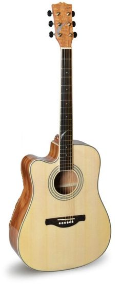 41inch left hand acoustic electric guitar with tuner pickup Brazil guitar