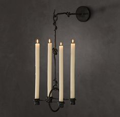 HOME DECOR – ILLUMINATION – CANDLE CHANDELIER – 19th C. Belgian Candle Sconce