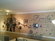 DIY family tree quote decor.  Vinyl Wall Quote. #BareWallsAreBoring