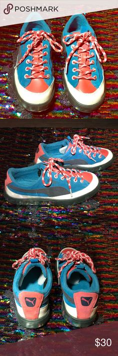 9f4090200e79 Puma Archive Eco OrthoLite Suede Sneakers EUC Puma Archive Eco OrthoLite  Sneakers in blue and red