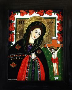 MD  - Icoane pe sticla Sapanta - Ioana Lutai - foto Cristina Nichitus Roncea Christian Paintings, Love Mom, Orthodox Icons, Religious Art, Folk, Arts And Crafts, My Arts, Glass, Illustration