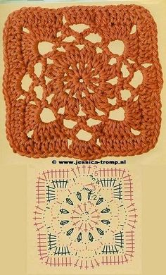 lots of crochet granny square patterns and other patterns