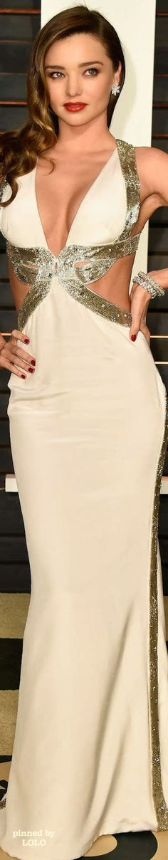 Miranda Kerr in Emilio Pucci 2015 Vanity Fair Oscar Party | LOLO