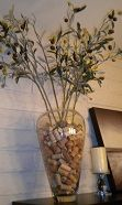 Wine Corks in a vase! I knew there was a reason I saved those things!!!
