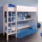 The office mezzanine is a practical solution that optimizes every square meter of a small room. Mezzanine office in 56 inspiring ideas. Bunk Bed With Desk, Bunk Bed With Trundle, Girl Bedroom Designs, Girls Bedroom, Bedroom Decor, Bedroom Furniture, Condo Bedroom, Design Bedroom, Furniture Ideas