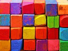 rainbow color chalk
